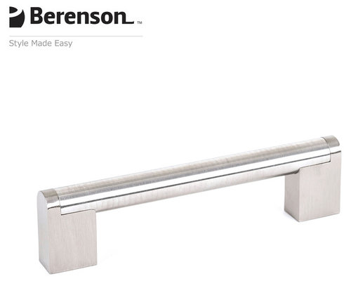 2021 90SS P Stainless Steel Cabinet Pull By Berenson   Cabinet And Drawer  Handle