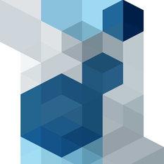 Cubo Wallpaper, Blue