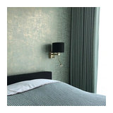 Modern Wall Lamp Brescia Gold with Shade 18/18/14 Velvet Black with Gold