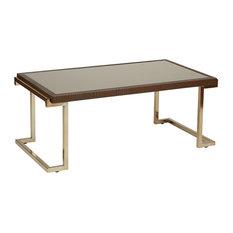 bronze glass coffee tables | houzz
