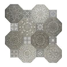"17.75""x17.75"" Imagina Decor Ceramic Floor and Wall Tiles, Set of 10, Imagina"