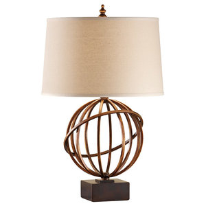 Sphere Table Lamp, Firenze Gold