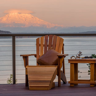 Design ideas for a beach style home design in Seattle.