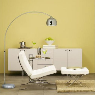 George Kovacs Portables 1 Light Arc Floor Lamp in Chrome with White Marble Base