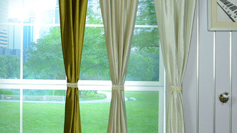Hotham Beige and Yellow Plain Ready Made Velvet Curtains and Fabrics