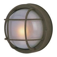 Bulkhead 1 Light Outdoor Ceiling Light in Textured Matte Black