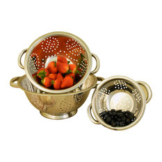 Cookpro - Cook Pro 3 Piece  Stainless Steel Colander Set - Colanders and Strainers