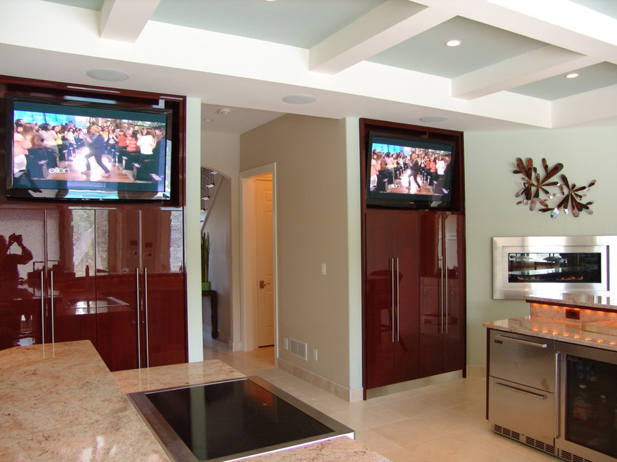 Pool House Double Television Installation