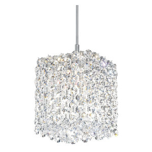 Refrax 1-Light LOW VOLT Pendant in Stainless Steel With Clear Spectra Crystal
