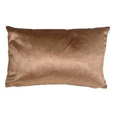 Pillow Decor - Milano 12 x 20 Light Brown Decorative Pillow