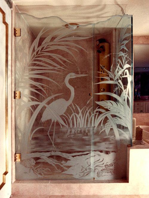 Creative Glass Shower Divider