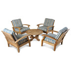 Virginia Table Set Contemporary Outdoor Lounge Sets