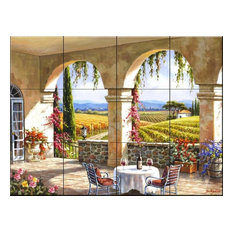 Tile Mural, Wine Country Terrace by Sung Kim