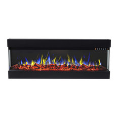 """72"""" Spectrum Linear Electric 3 Sided Wall Mounted Built-in Recessed Fireplace"""