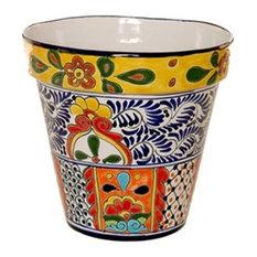 mexican talavera mexican talavera flower pot large design c outdoor pots and