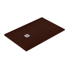 Chocolate Allstone Shower Tray, 70x130 cm
