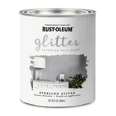 Rust-Oleum Specialty Glitter Interior Wall Paint, Sterling Silver, Quart
