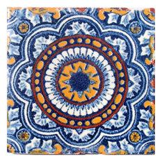 "4""x4"" Mexican Ceramic Handmade Tile #C055"