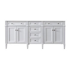 "72"" Brittany Double Cabinet Only Without Top, Cottage White"