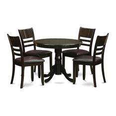 east west furniture 5 piece kitchen table setround kitchen table plus 4 dinette