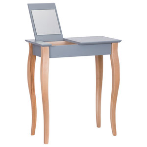 Lilo Small Scandinavian Dressing Table, Dark Grey