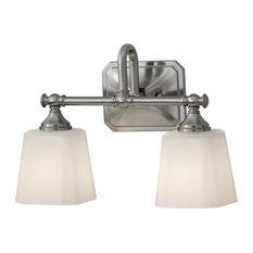Feiss 2-Light Vanity Strip, Brushed Steel