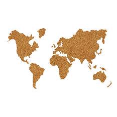 Cork Map Pinboard
