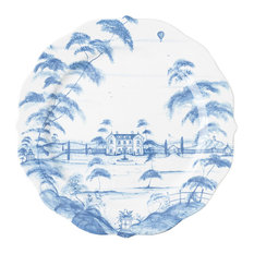 Country Estate Delft Blue Charger Plate Main House