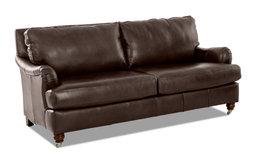 Avenue 405 Charlotte Leather Sofa, Chestnut