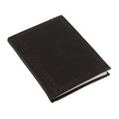 Black Butterfly Leather Journal