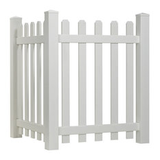 Spaced Picket Vinyl Accent Fence