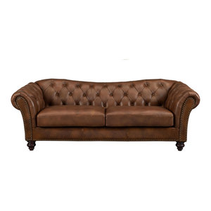 Joanna Leather Craft Sofa Contemporary Sofas By Kemp