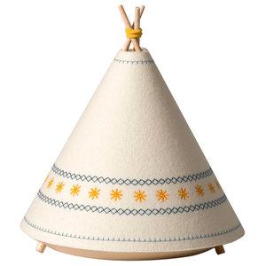 Tipi Table Lamp, Yellow Stars