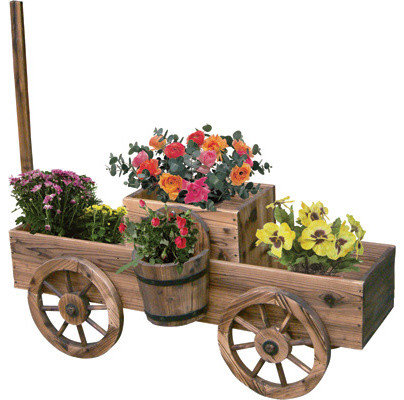 Nice Garden Wagon Planters   Outdoor Pots And Planters