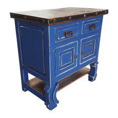 Dealno Rustic Reclaimed Wood Bathroom Vanity Blue 30 X 20 X 32 Real Drawers