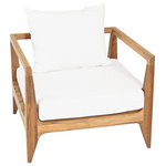 Oasiq - OASIQ Limited 300 Lounge Chair With Canvas Natural Cushions - Give your deck a fresh spring update with the Limited Lounge Chair. This piece helps your design stand the test of time with natural fibers, coarse fabric and sturdy construction. Accent your space with carved wood, muted colors and a simple silhouette for comfy outdoor style.