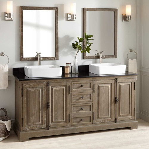 Double Vessel Sink Vanity. 72  CHELLES DOUBLE VESSEL SINK VANITY GRAY WASH Bathroom Vanities And Sink Consoles Vessel