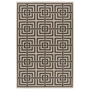 Petani Black Multipurpose Indoor/Outdoor Rug, 78x152 cm