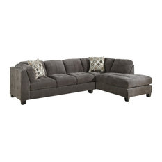 Emerald Home   Trinton 2 Piece Sectional LSF Sofa And RSF Chaise   Sectional  Sofas