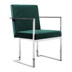Dexter Arm Chair, Velvet Green