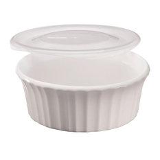 Corning Ware Baking Dish, French White, 16 oz.