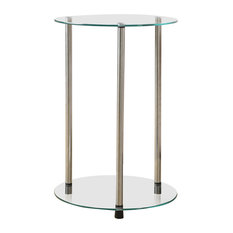 convenience concepts 2tier round end table side tables and end tables