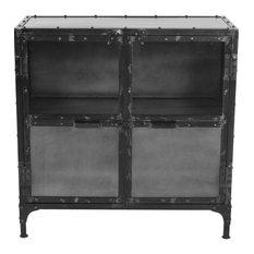 Square Brooklyn Iron Cabinet