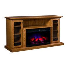 Cozy Glow Electric Fireplace, Quarter Sawn White Oak