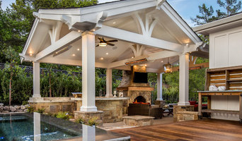 a Loggia with an Outdoor Kitchen and Living Room