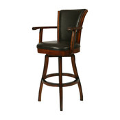 Pastel Glenwood Swivel Barstool with Arms - Russet Cordovan - Brown - 26 Inch