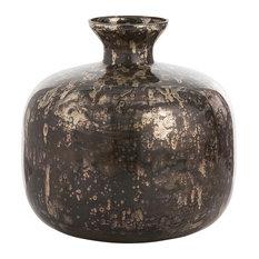 Marbled Vases, Black Antiqued Mercury