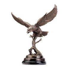 Eagle in Flight Cast Bronze Statue