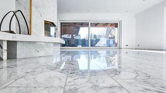 Aufarbeitung Marmorboden / Wohnhaus Hannover