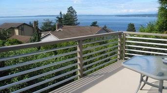 Aluminum deck railing & GacoDeck,